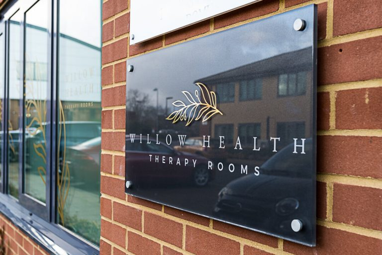 Willow Health Therapy Rooms sign